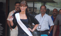 Miss UK Lisa arrives to shoot for Veer
