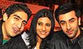 Ranbir, Konkana and Ayaan promote Wake Up Sid