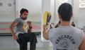 Surya Practicing Martial Arts for 7AAm Arivu