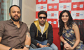 Abhishek with Rohit Shetty and RJ Yamini Promote Bol Bachchan