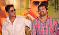 Akshay and Himesh at the launch of Khiladi 786