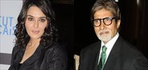 Big B and Preity Zinta at Ishq in Paris-Isabelle Adjani Event