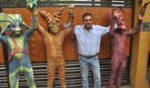 Boman Irani With Aliens For Movie Joker