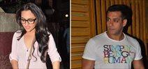 Salman Khan and Sonakshi Sinha at Dabangg 2 Screening