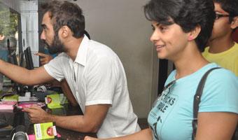 Cast Of Fatso Sells Tickets At PVR Juhu