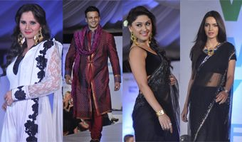 Bollywood Celebs Walk the Ramp at Global Peace Fashion Show