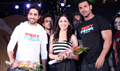 John, Yami and Ayushman at Vicky Donor Promotion