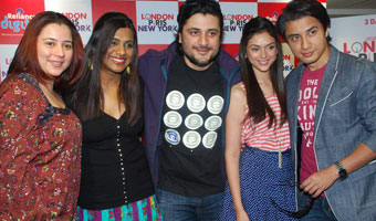 Ali Zafar Aditi promote London, Paris, New York