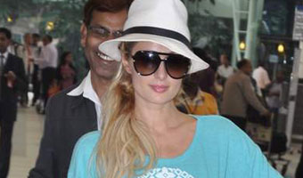 Paris Hilton Arrives at Mumbai International Airport