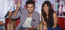 Ranbir and ileana promote Barfi at CCD