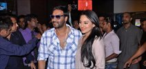 Ajay and Sonakshi Promote SOS at Fame