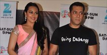 Salman and Sonakshi on the sets of Sa Re Ga Ma