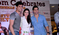 Alia Bhatt, Varun Dhavan and Siddharth Malhotra unveil the merchandise of Student of the year