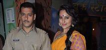 Salman Khan and Sonakshi Sinha on the sets of Diya aur Baati