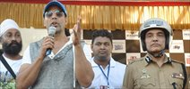 Akshay At Road Safety Helmet Awareness Event