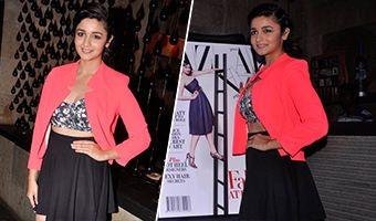 Alia Bhatt Launch Harpers Bazaar Double Issue