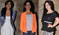 Tamannah, Richa Chaddha And Eli Grace At Bullet Raja Screening