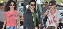 Hrithik Kangana And Priyanka Leave For Delhi To Attend The PC For Krrish 3