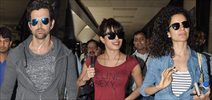 Kangna, Priyanka And Hrithik Return From Dubai Krrish 3 Promotions