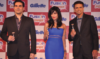 Chitrangada, Rahul Dravid, Arbaaz at Gillette Fusion Power Event