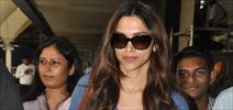 Deepika Padukone arrives from Dubai for Ramleela Launch