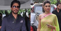Deepika And SRK Snapped Promoting Chennai Express At Mahalaxmi