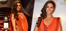 Esha Gupta walks for JJ Valaya at AVBFW 2013