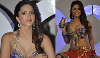 Sunny Leone Shoots For XXX Energy Drink At Filmistan In Mumbai