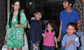 Manyata Watches Policegiri With Kids At Mumbai