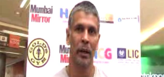Milind Soman at Pinkathon