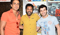 Prabhudeva, Sonu Sood And Girish watch Ramaiya Vastavaiya At Gaiety