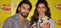 Deepika Padukone and Ranveer Singh Promotes Ram Leela at Radio Mirchi