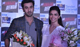 Ranbir And Deepika At YJHD-Parachute Promotional Event