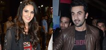 Ranbir And Sunny Leone At Besharam Screening