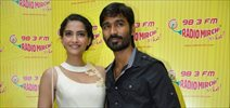 Music Launch Of Dhanush-Sonam Movie Ranjhanaa at Radio Mirchi 98.3 FM