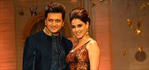 Riteish & Genelia walk for Neeta Lulla at AVBFW 2013