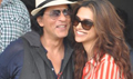 Shahrukh And Deepika Land In Mumbai Post CE Promotions