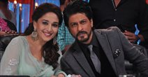 Shahrukh Khan And Madhuri Bond On Jhalak Dikhlaja-Chennal Express Special Shoot In Mumbai