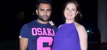 Sachin Joshi Snapped With Pregnant Wife Urvashi Sharma