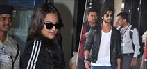 Shahid Kapoor and Sonakshi Sinha Leaving From Dubai After R... Rajkumar Promotion