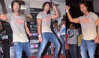 Shahid Kapoor at Poddar College to Promote Phata Poster Nikla Hero