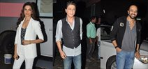 Shahrukh, Deepika & Rohit Snapped at 'Chennai Express' Promotions