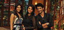 Promotion of 'Shuddh Desi Romance' on the sets of Comedy with Kapil