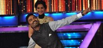 Sonam and Dhanush on the sets of Jhalak dikhla jaa