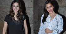 Sunny Leone And Sophie At The Screening Of Shootout At Wadala In Santacruz