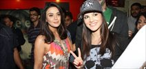 Sunny Leone Meets Preity ZInta at Ishq in Paris Screening