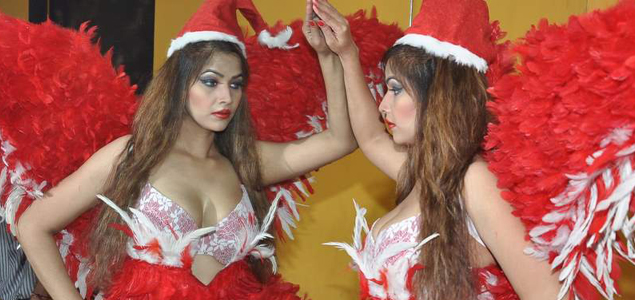 Tanisha Singh At Santa Shoot