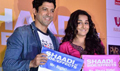 Vidya And Farhan At Shaadi Ke Side Effects Launch