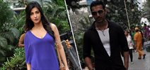 John Abraham and Shruti Hassan snapped on the sets of Welcome Back