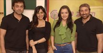 Yamla Pagla Star Cast At Radio Mirchi At Lower Parel